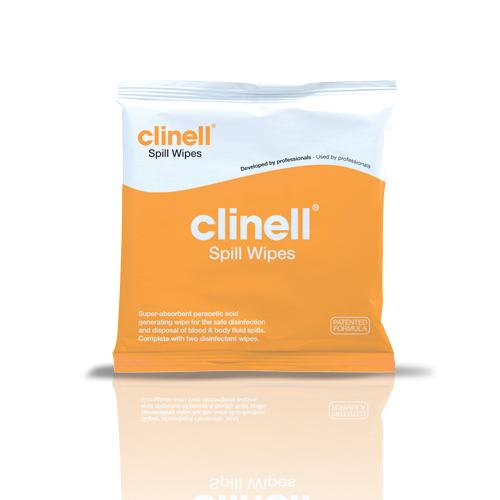 CLINELL SPILL WIPES (CSW1)                EACH