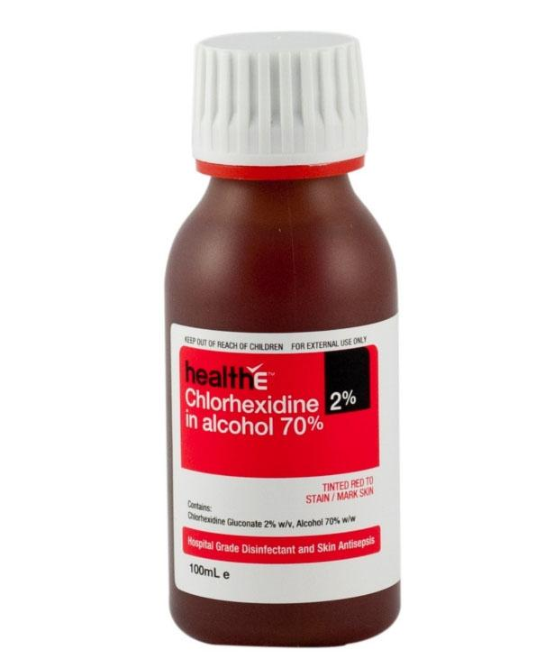 CHLORHEX 2% IN 70% ALCOHOL RED 100ML