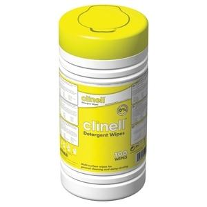CLINELL DETERGENT WIPES (CDT110)          TUB/110