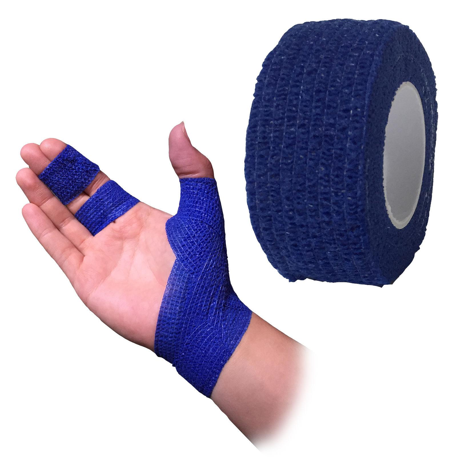 bandage coban cohesive blue 50mmx4 5m 1582b roll 17 bandages plaster and slings self. Black Bedroom Furniture Sets. Home Design Ideas