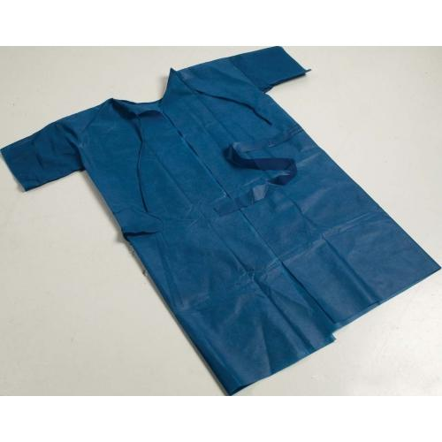 GOWN PATIENT X-RAY BLUE S/SLEEVE (29-222) CTN/50
