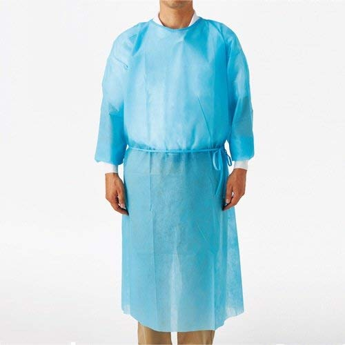 GOWN ISOLATION DISPOSABLE L/S  BLUE (PA64002BS) PK10