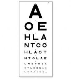 Eye chart testing schnellin 6m 39 education aids books and