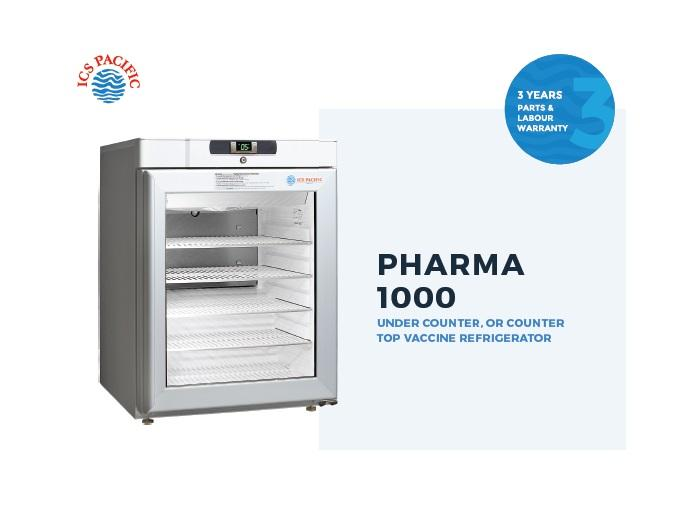 VACCINE FRIDGE ICS PHARMA 145L BENCHTOP  (1000GD)