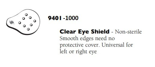 09401 EYE SHIELD CLEAR NON STERILE              1000
