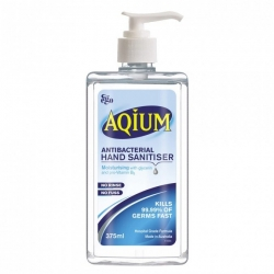 AQIUM HAND SANITISER  (EGO)  C/W PUMP  375ML  EA - Click for more info
