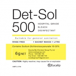 DET-SOL 500 DISINFECTANT 6G SACHET BOX/200