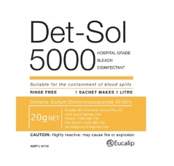 DET-SOL 5000 DISINFECTANT 20G SACHET BOX/200