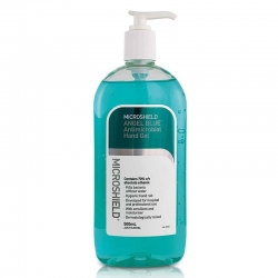MICROSHIELD ANGEL BLUE ANTIMICROBIAL HAND GEL 500ML - Click for more info