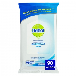 DETTOL SURFACE CLEANSING WIPES (020958) TUB/80