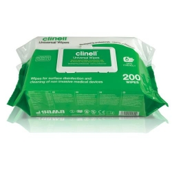 CLINELL UNIVERSAL WIPE FLAT PACK (CW200) PACK/200