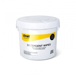 CLINELL DETERGENT WIPES  (CDB260) BUCKET/260 - Click for more info