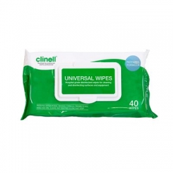 CLINELL UNIVERSAL WIPE FLAT PACK (CW40) PACK/40