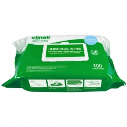 CLINELL UNIVERSAL WIPE FLAT PACK (BCW100) PACK/100
