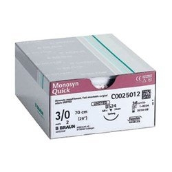 SUTURE MONOSYN QUICK 3/0 45CM (C0025003) BOX/36 - Click for more info