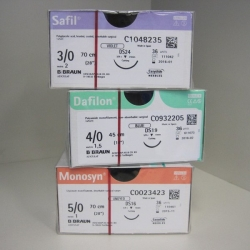 SUTURE DAFILON 3/0 19MM 75CM (C0935212) BOX/36