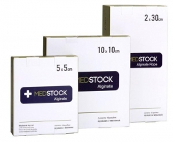 MEDSTOCK ALGINATE DRESSING 10X10CM (MS1010A) B/10