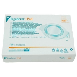 TEGADERM PLUS PAD OVAL 9X10.5CM (3587)  BOX/25