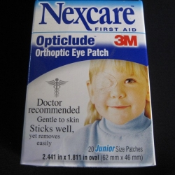 NEXCARE OPTICLUDE EYE PATCH JNR (1537) BOX/20