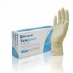 GLOVE LATEX N/ST SAFEBASICS LGE P/F (1188-D) BOX/100 - Click for more info