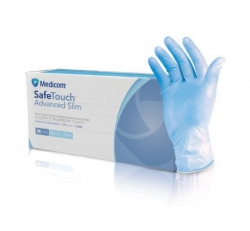 GLOVE ADVANCED SLIM BLU NITRILE MED (1175C) BX/100