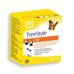 FREESTYLE LITE BLOOD GLUCOSE STRIPS BOX/100