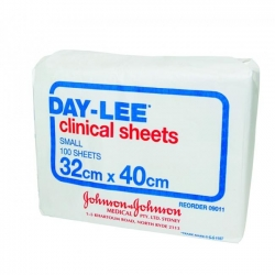 SHEET CLINICAL DAYLEE 32X40CM (09011)   BOX/100