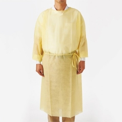 GOWN ISOLATION DISPOSABLE L/S YELLOW  (PA64002YS) PK10