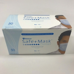 FACEMASK SURGICAL LEVEL 1 E/L MEDICOM WHITE (2014) BX50 - Click for more info