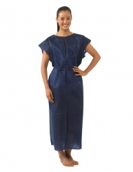 GOWN PATIENT X-RAY BLUE M/L (10125311)  CTN/100