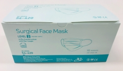 FACEMASK SURGICAL LEVEL 2 EARLOOP (54-420) BX/50 - Click for more info