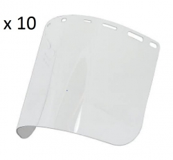 FACE SHIELD REPLACEMENT SHIELD ONLY PACK/10 - Click for more info