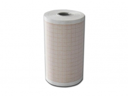 ECG ROLL ORANGE STRIPE 64MM (100-521A)  BOX/10
