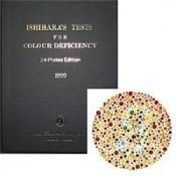 BOOK COLOUR BLINDNESS ISHIHARA 24 PLATE