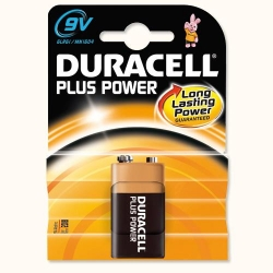 BATTERY DURACELL 9V (DMN1604)     EACH