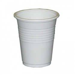 CUP DRINK PLASTIC WHITE (6AP) 180ML CTN/1000