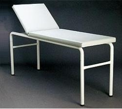 COUCH EXAM POWDER COATED STEEL ROUND LEG (AX357/GREY) - Click for more info