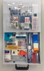 FIRST AID KIT INCL CONTENTS WALL MOUNT& PORTABLE