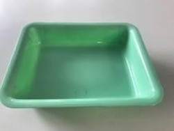 DRESSING TRAY GREEN 245X195MM (TRD24X19GR) EA