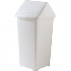 BIN GARBAGE PLASTIC 18 LITRE SWING TOP