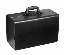 DRS BAG BOLLMANN CONCERTINA BLACK LEATHER (1.06.121)