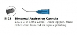 5123 BIMANUAL ASPIRATING CANNULA 23G  10