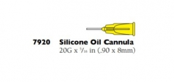 7920 SILICONE OIL CANNULA 20G         10