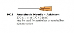 1025 ANAESTHESIA NEEDLE RETROBULBAR 25G 10