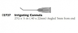 02727 IRRIGATING CANNULA 27G ANG 5MM N/ST100
